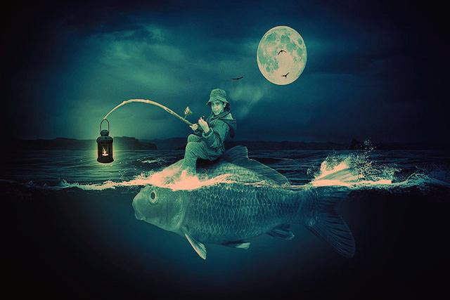 Ночная подводная охота