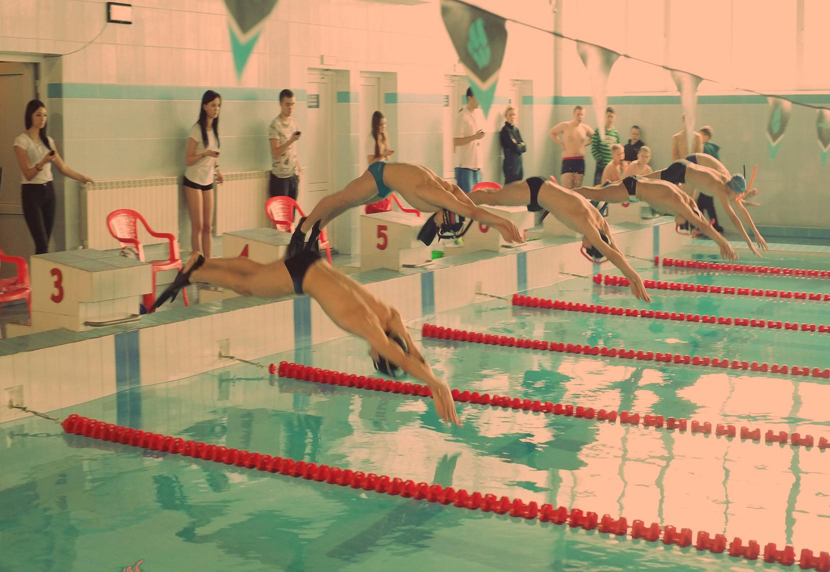 Плавание в ластах