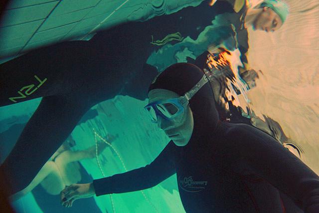 Практика в бассейне